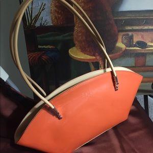 NWOT Beijo Orange patent shoulder bag